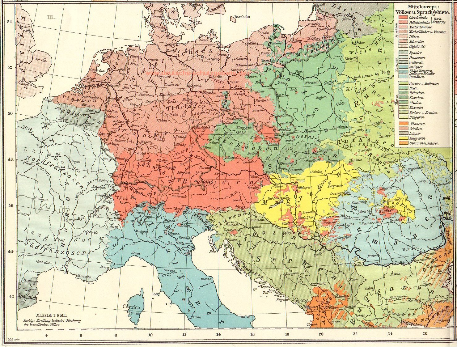 deutschlandkarte von 1914 Historische Landkarten