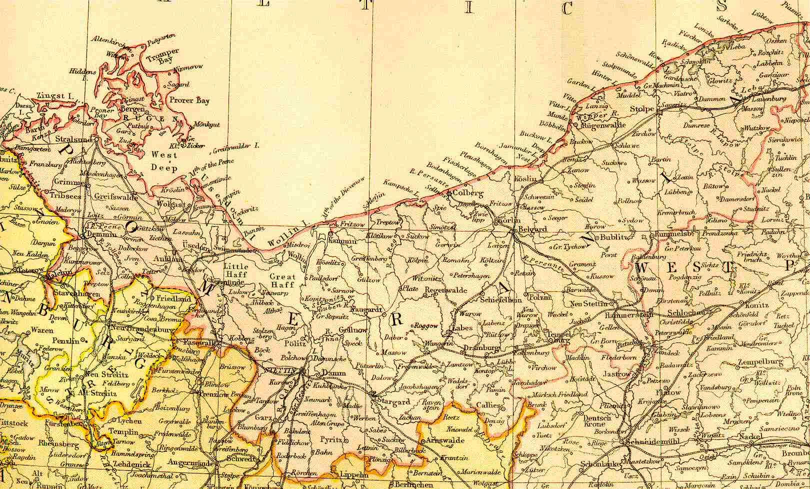 Pommern Karte Vor 1945.Historische Landkarten