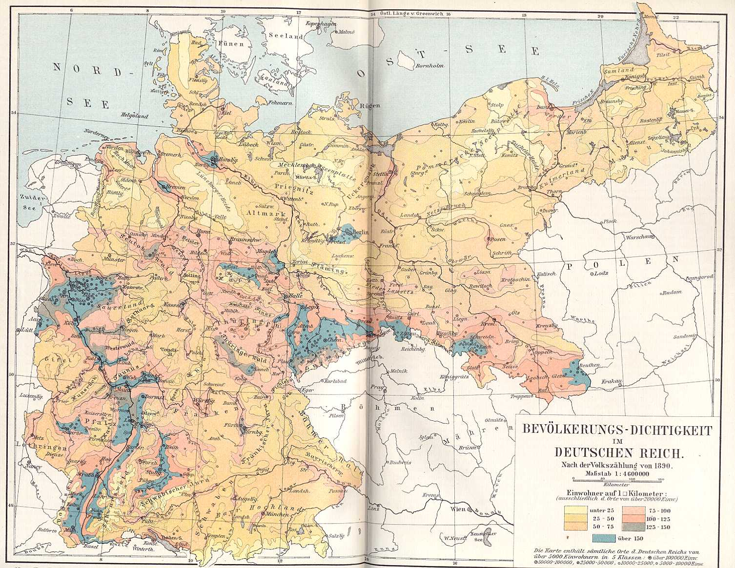 Historical Maps Of Germany - Germany map 1900